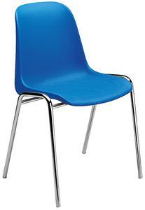Elena, Stuhl mit Polypropylen Sitz, für Mehrzweckräume