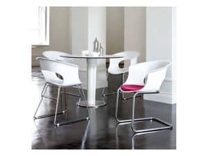 Miss b Cantilever, Besucherstuhl aus Polycarbonat und Stahl, verschiedene Farben