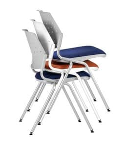 NESTING DELFIBRIO 063, Stapelstuhl mit gepolstertem Sitz