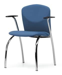VULCAN 1275 Z, Gepolsterter Stuhl mit Armlehnen, Metallrahmen