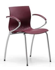 WEBBY 339, Stuhl aus Metall mit Nylonhülle, in verschiedenen Farben