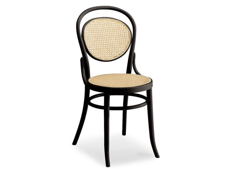 050, Holzstuhl mit Sitz und Rückenlehne aus Zuckerrohr
