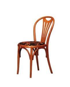 108, Stuhl aus Buche, in den frühen '900-Stil, für Bars