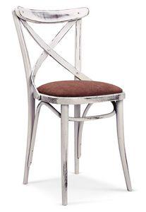 1112, Gepolsterter Bentwood Stuhl, für Bars und Tavernen