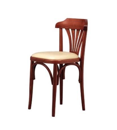 131, Retro-Stuhl aus gebogenem Buche, für Weinbars und Pizzerien
