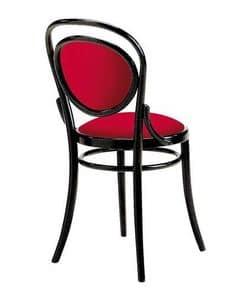 2003, Gepolsterter Wiener-Stuhl aus Holz