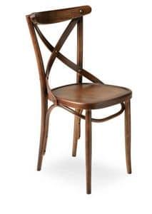 Croce, Stuhl aus Massivholz, für den Objektbereich