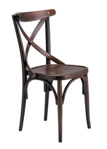 Golia, Stuhl aus gebogenem Buchenholz für Bars und Weinstuben