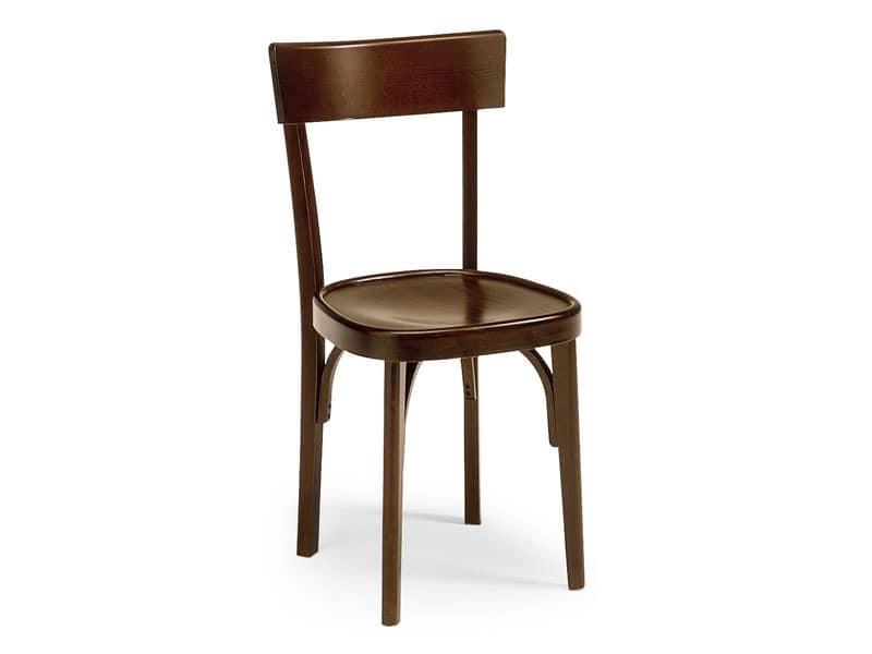 Milano crocera, Stuhl der alten Art für Bars und Pubs, aus Holz