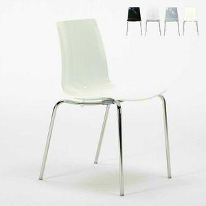 Barstühle Küchenbeine stapelbarer Stahl LOLLIPOP Grand Soleil - S3343, Sparsam stapelbarer Stuhl aus Polycarbonat