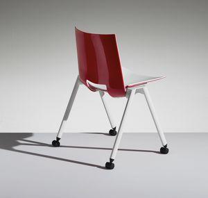 HL3 2, Stuhl mit Beinen und Rädern für Arbeit und Gemeinschaft