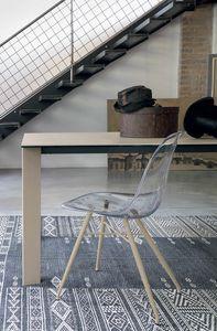 MARBELLA SE517, Stuhl mit Schale aus transparentem Polycarbonat