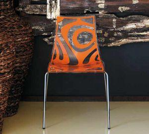 Webra, Metallstuhl, mit Polycarbonat-Schale