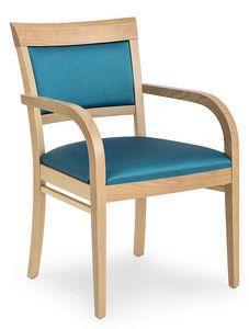 Anna XL ARMS, Bequemer gepolsterter Stuhl mit Armlehnen
