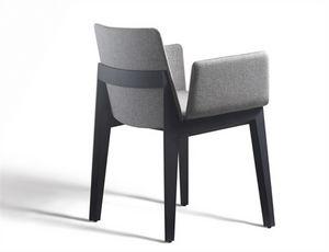 Ava 646N, Gepolsterter Stuhl mit Armlehnen, für Restaurants und Bars