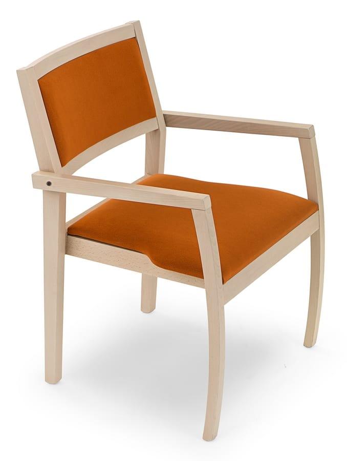 holzstuhl mit armlehnen idfdesign. Black Bedroom Furniture Sets. Home Design Ideas