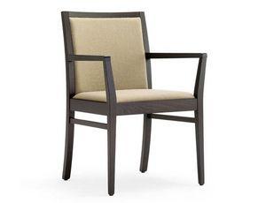 Guenda-P1, Stuhl mit Armlehnen für Hotel