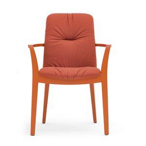 Light 03222, Gepolsterter Stuhl mit Plisseepolsterung