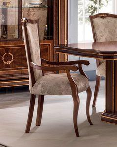 Modigliani Stuhl mit Armlehnen, Chiar mit Armlehnen für Esszimmer