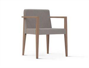 New York 631N, Stuhl mit Armlehnen, mit gepolstertem Sitz und Rücken