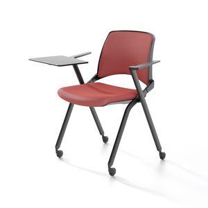 Oplà mit Armlehnen, Stapelbarer Stuhl mit Armlehnen