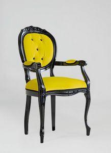 S17P, Klassischer Stuhl mit Armlehnen