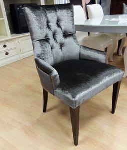 Stuhl 02, Stuhl mit Samt bezogen