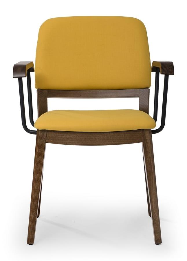Stuhl Mit Gerundeter Rückenlehne