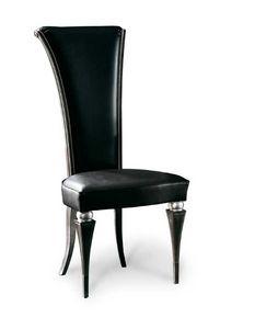 Art. 181/P, Eleganter Esszimmerstuhl mit hoher Rückenlehne