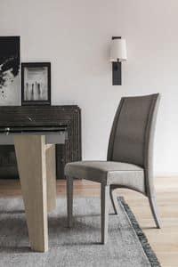 ATENE SE510, Holzstuhl mit hoher Rückenlehne, in Soft-Touch-gepolstert