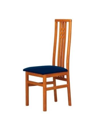 C05, Buchenstuhl mit hoher Rückenlehne, gepolsterte Sitzfläche