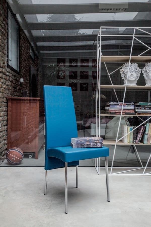 CHARONNE, Moderne Esszimmerstuhl mit hoher Rückenlehne, für Restaurant