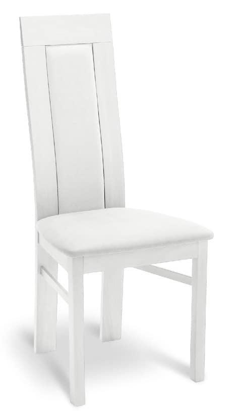 gepolsterter stuhl aus holz mit hoher r ckenlehne f r restaurants idfdesign. Black Bedroom Furniture Sets. Home Design Ideas