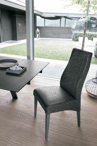 GINEVRA SE515, Vintage Stuhl aus Holz, gepolstert mit weicher Note