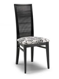 Siria O, Moderne Stuhl für den Objektbereich, mit hoher Rückenlehne