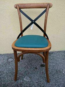 Croce, Outlet-Stuhl aus gebogenem Holz