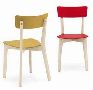 Holly, Holzstuhl mit Kunststoffsitz und Rücken