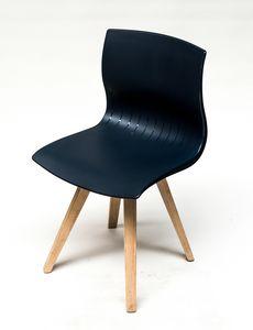 WEBBY 333U, Stuhl mit Beinen aus Buche, Nylonschale