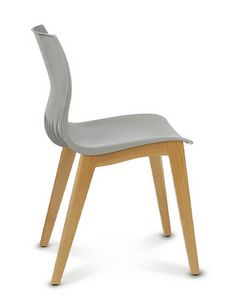 WEBBY 345, Stuhl aus Kunststoff und Holz
