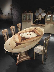 TA40K Dalì, Ovaler Tisch zum Outlet-Preis im klassischen Stil