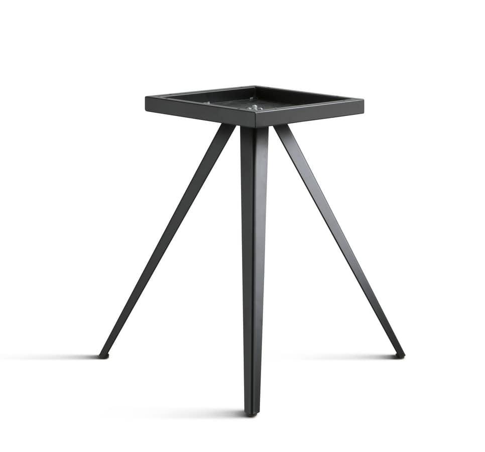Design tischgestell aus metall mit 3 beinen idfdesign for Tischgestell design