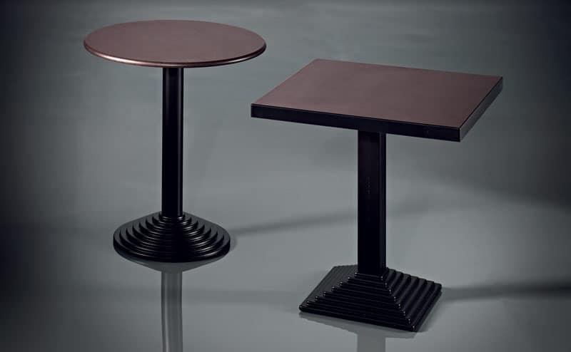 ART. 183, Chrome Metallbasis, verschiedene Oberflächen, für Cafeterias