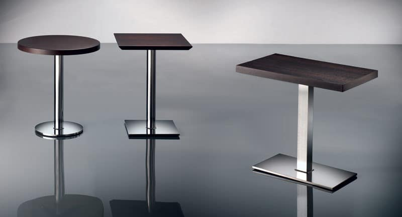 ART. 430, Chrome Metallbasis, verschiedene Höhen, für Restaurant