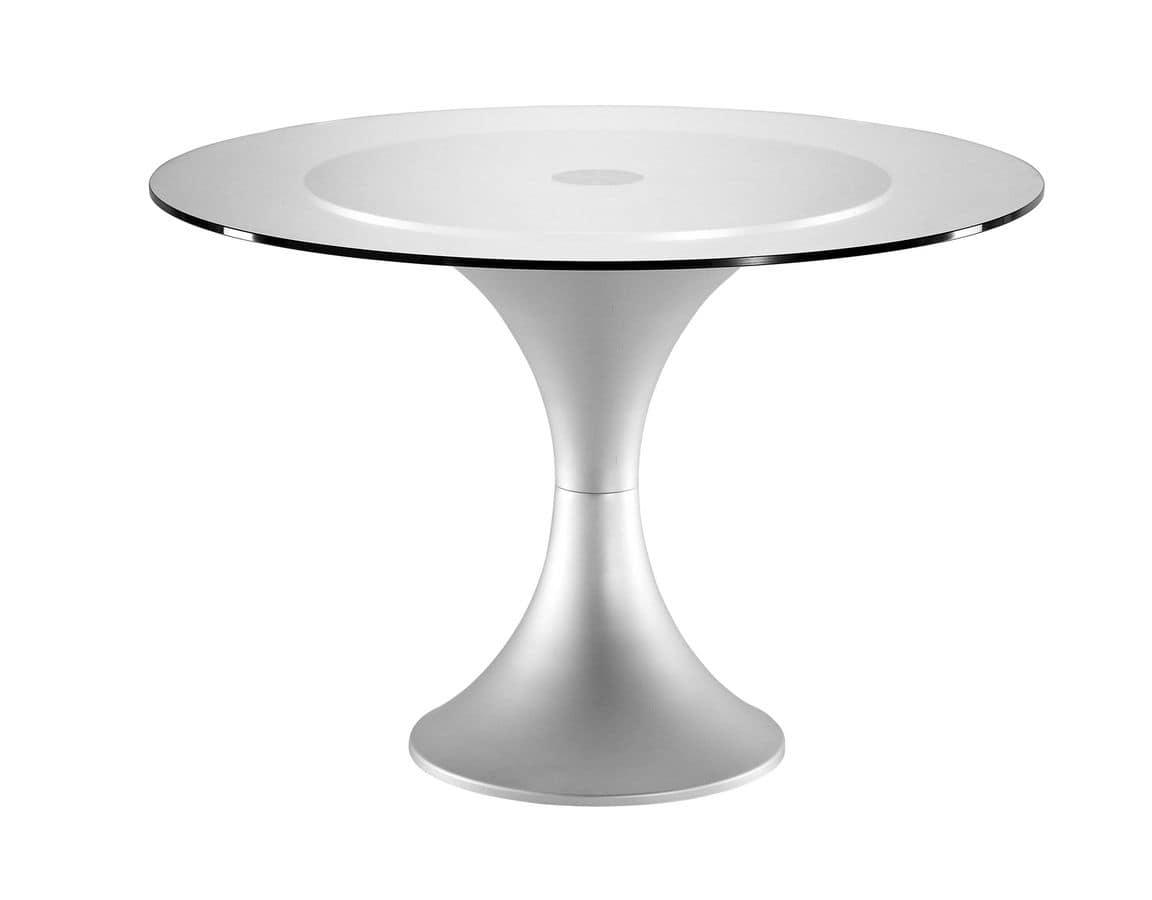 Runder Tisch Grund, Metallrahmen, für Vertrags und