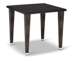 FT 2026, Basis für Tisch, geflochten aus Aluminium, mit 4 Beinen