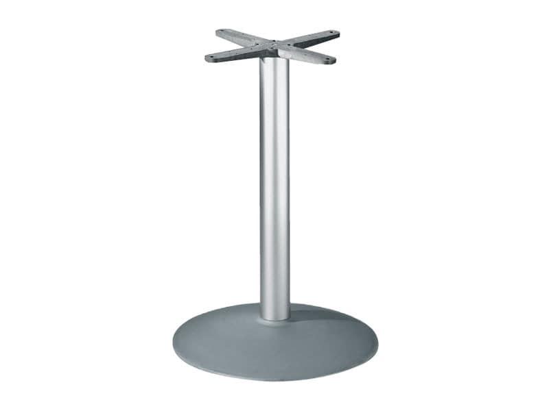 Round base h 115 cod. BTAK54, Runder Tisch Gestell aus Aluminium
