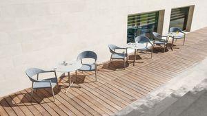 Summer set base low, Tischgestell aus Edelstahl, für den Außenbereich