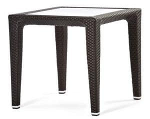 Altea Tisch 2, Gewebte Kunststofftisch, für Garten und Terrasse