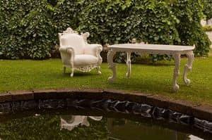 Finlandia Outdoor 454, Esstisch aus Holz, Barock-Stil, für den Außenbereich aus