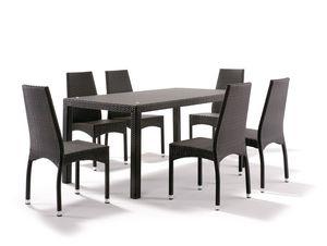 FT 2030/200, Völlig verflochtener Tisch für Gärten